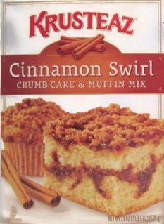 Krusteaz Cinnamon Swirl Crumb Cake & Muffin Mix - Pack of 2 (Crumb Cake Muffins)