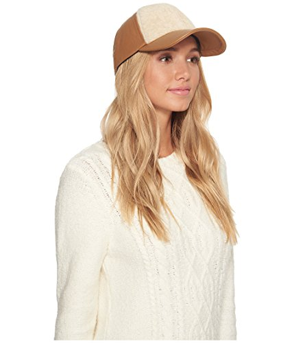 UGG Women's Curly Pile Leather Baseball Hat Chestnut One Size by UGG