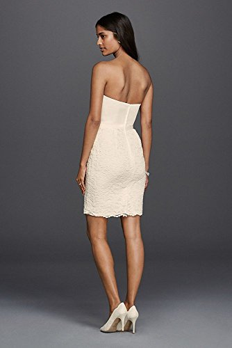 Lace Cap Sleeve Short Wedding Dress