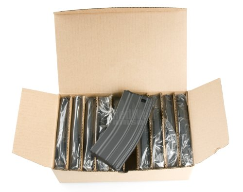 G&P 130rds Mid Cap M16 Magazine 10pcs Package (Grey) by GP