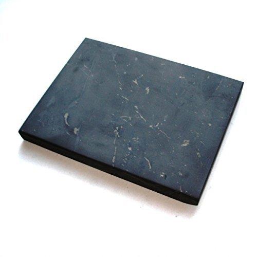 Boviswert Schungit Platte,10x10cm, ca.240g. UNpoliert, mit Echtheitszertifikat der Mine in Karelien!
