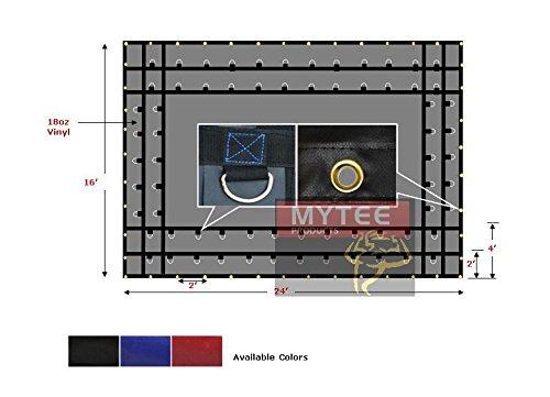 Flatbed Truck Tarps 18oz Steel Tarp 16' x 24' - Black by Mytee