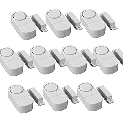 WER Wireless Door/Window Anti-Theft Sensor Alarm Safety Ensurance Sensor Magnetic Alarm(10-Pack)