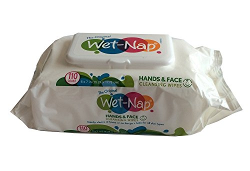 Wet-Nap Hands & Face Unscented 110 ct (4 Pack)
