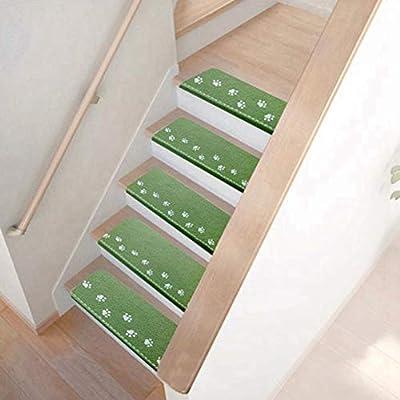 Alfombra interior de 5 piezas Alfombra de escalera Alfombra luminosa antideslizante Autoadhesivo Contemporáneo Resistente al deslizamiento Suave y acogedor Decoración de alfombra de piso para el hogar: Amazon.es: Hogar