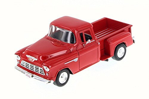 (Motor Max 1955 Chevy 5100 Stepside Pick Up, Red 73236WB - 1/24 Scale Diecast Model Toy Car)