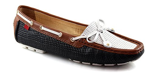 Loafer Cypress Cognac Mosaic Hill Marc York amp; Black Women's New White Joseph wR8RqIFY