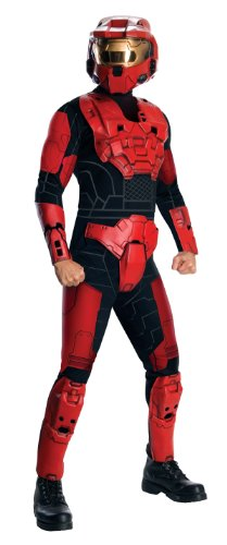Halo Deluxe Spartan Costume, Red, (Spartan Soldier Costume)