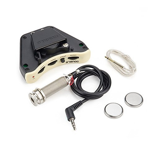 Control Preamp Pickup System for Acoustic Guitar, Black ()
