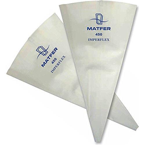 Matfer Bourgeat Polyurethane Imperflex Heavy Duty Pastry Bag, 23.5'', 10PK 161208 by Matfer Bourgeat