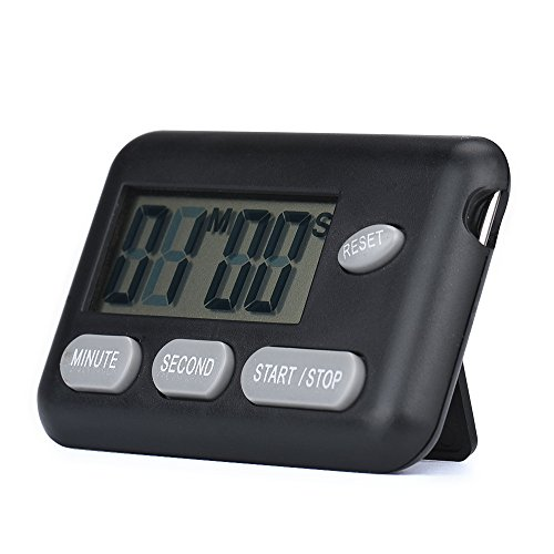 Price comparison product image Wensltd Portable Digital Countdown Timer Clock with Large Backlit LCD Display (Black)