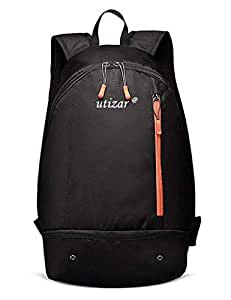 Utizar Sports Backpack, Gym Rucksack, Travel Bag, Multipurpose Daypack with Shoes Compartment, Lightweight, 30L (Black)