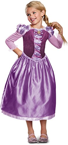 Rapunzel Day Dress Classic Costume, Purple, Small (4-6X)