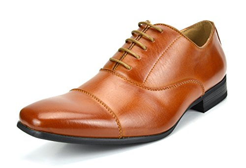 - Bruno Marc Men's Gordon-06 Brown Classic Modern Formal Oxfords Lace Up Leather Lined Cap Toe Dress Shoes - 8 M US