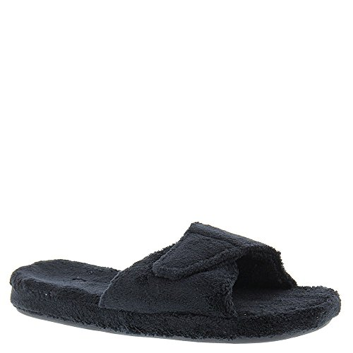 Acorn Womens Spa Slide II Slippers Black 1WrdJj2jQv