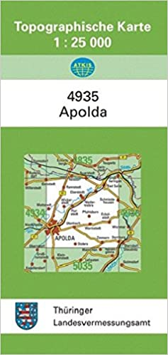 Apolda 4935 Topographische Karten 1 25000 Tk 25 Thuringen Amtlich