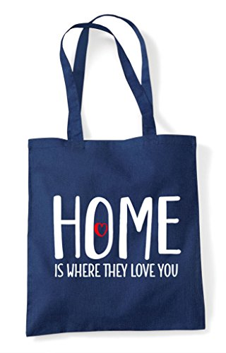 You Is Statement Family Where Home Love They Shopper Tote Bag Navy aInfdxq