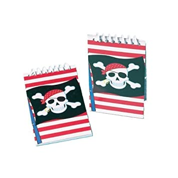 Pirate note book (pack of 12) - Great Pirate Party Bag Fillers! Party Bags 2 Go