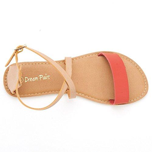 b8a8df795162 DREAM PAIRS CROX Women Open Toe Fashion Crisscross Valcre Ankle ...