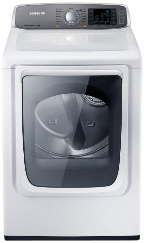 Samsung DV50F9A6GVW Gas Front Load Dryer with Steam Dry, 7.4 Cubic Feet, Neat White by Samsung