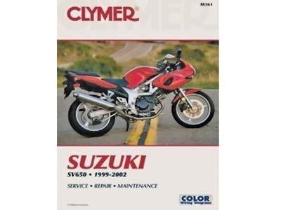 amazon com clymer repair manual for suzuki sv650 sv 650 99 02 rh amazon com suzuki sv650 s 1999 service manual suzuki sv 650 service manual download