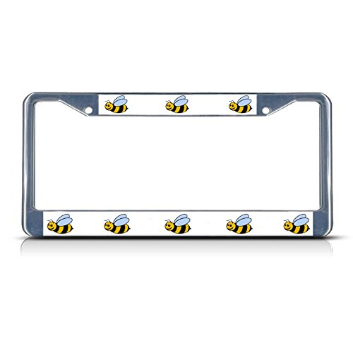 Bumble BEE Animal Metal License Plate Frame Tag Border Two Holes Perfect for Men Women Car garadge - Zelda Bumble Bee