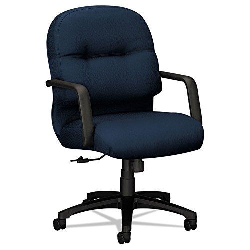 HON 2092NT90T 2090 Pillow-Soft Series Managerial Mid-Back Swivel/Tilt Chair, Mariner/Black