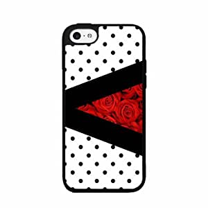 Polka Dots and Roses - Phone Case Back Cover (iPhone 5c- TPU Rubber Silicone)