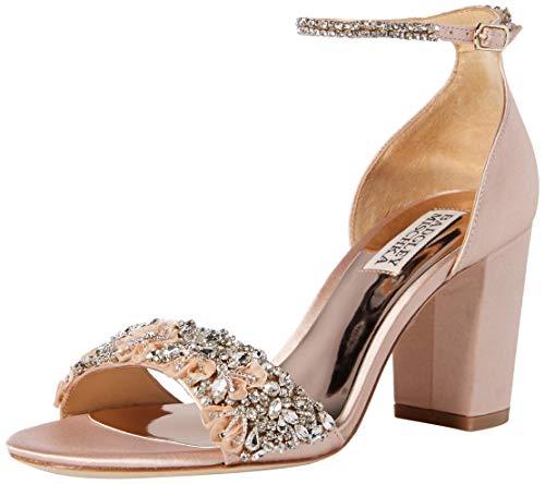 (Badgley Mischka Women's Finesse Heeled Sandal, Soft Blush, 9.5 M US)