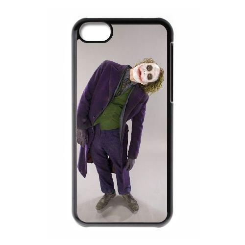 Batman Joker coque iPhone 5C Housse téléphone Noir de couverture de cas coque EBDOBCKCO09096
