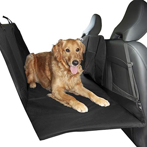 FurHaven Pet Car Barrier | Deluxe Barrier & Hard Bottom Seat Protector w/ Carry Bag, - Front Organizer Deluxe