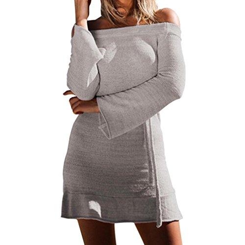 - Spbamboo Womens Camisole Long Sleeve knitting Mini Dress Bandage Fashion Dress