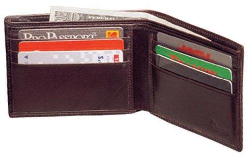 High Polished Cowhide Aniline Leather Slim Billfold Wallet Color: Bordo Winn Slim Wallet