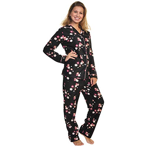 Angelina Cozy Fleece Pajama Set, PJ56_Sakura_XL