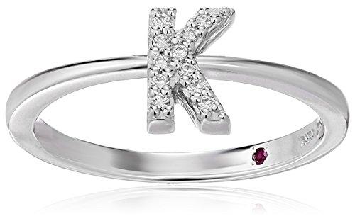 Roberto Coin Women's 001634AWLRXK Diamond Initial Ring, White, Size 7 ()