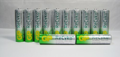 GP Recyko NEW AA Ni-MH Pre-Charged Rechargeable Battery 2000 mAh x 12 batteries