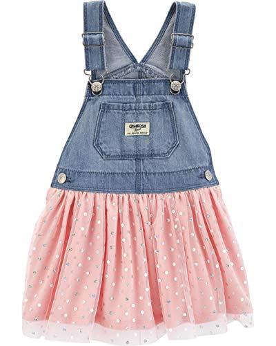 affordable OshKosh B'Gosh Baby Girls World's Best Overalls, Pink Jumper, 12 Months