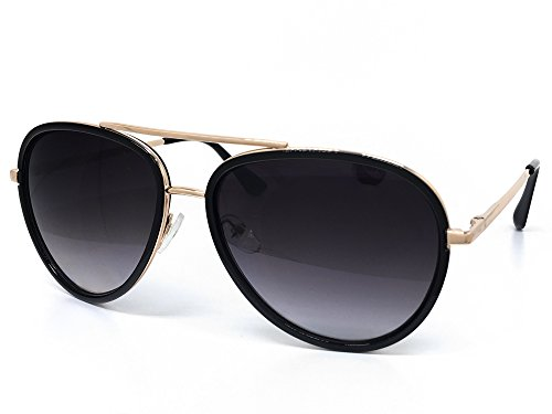 Aviator Vintage Womens Sunglasses Retro Eyewear Lens Black - 2