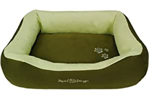 Red Dingo Army Green/Lime Green Pet Bed, Donut, Large