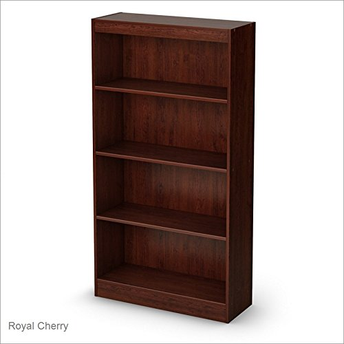 Shelves Storage Four (South Shore 4-Shelf Storage Bookcase, Royal Cherry)