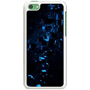 Apple iPhone 5C Cases Customized Gifts Of 3D Graphics Blue Cubes In The Shadows 3d D White