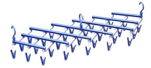エヌケー 『伸縮式洗濯ハンガー』 フリーピンチャー29 ライトブルー ピンチ29個付
