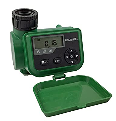 Instapark PWT-06 Outdoor Waterproof Digital Programmable Single Outlet 7-day Automatic On Off Faucet Water Timer with Manual Control