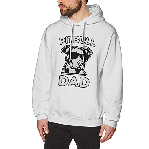 (AA WIU Proud Pitbull Dad Cool Hoodie Sweatshirts Sports Pullovers Fleece for Men)