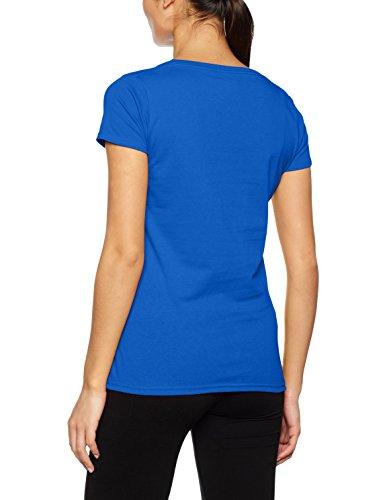 Fruit Of The Loom Lady-Fit Valueweight Damen T-Shirt, V-Ausschnitt S,Königsblau
