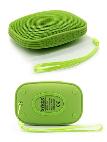 #1 for Sony Xperia Z3+ Plus Bluetooth Speaker Waterproof Shower AQUA Bass - HD Sound, Portable Chargable SD Card AUX FM Radio Microphone High Volume Green