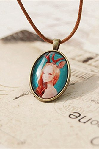 Generic Sum_of hand-painted_time_gemstone_ necklace pendant ()