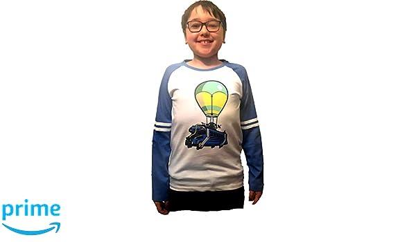 Fortnite Camisetas de Manga Larga BlancoAzul: Amazon.es: Ropa y ...