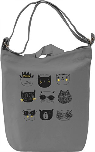 Cat squad Borsa Giornaliera Canvas Canvas Day Bag| 100% Premium Cotton Canvas| DTG Printing|