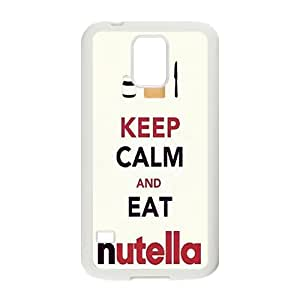 Keep Calm And Eat Nutella Cell Phone Case for Samsung Galaxy S5
